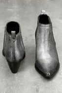 Cardinal Pewter Leather Ankle Booties 3
