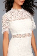 Remarkable White Lace Dress 5