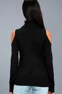 Nicky Black Cold-Shoulder Sweater Top 3