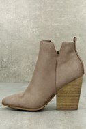 Kennedy Light Cement Suede Ankle Booties 2
