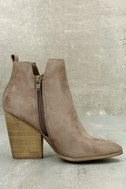 Kennedy Light Cement Suede Ankle Booties 4