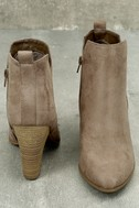 Kennedy Light Cement Suede Ankle Booties 5