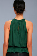 Cherished Memories Forest Green Sleeveless Top 3