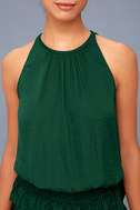 Cherished Memories Forest Green Sleeveless Top 4