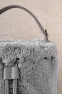 Pre-fur-ed Choice Grey Faux Fur Bucket Bag 3