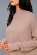 Lovelle Light Pink Oversized Turtleneck Sweater 5