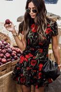 Sweet Talking Black Floral Print Dress 5