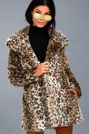 Chloe Leopard Print Faux Fur Coat