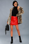 Chloe Leopard Print Faux Fur Coat 1
