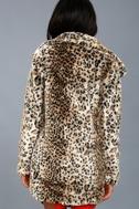 Chloe Leopard Print Faux Fur Coat 4