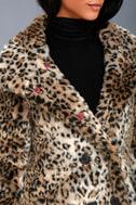 Chloe Leopard Print Faux Fur Coat 3