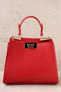 Candy Apple Red Handbag 2