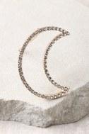 Moon and Sky Gold Rhinestone Hair Clip 2