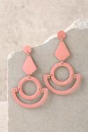 Callie Rose Pink Earrings 2
