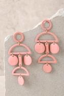 Cam Rose Gold Drop Earrings 1