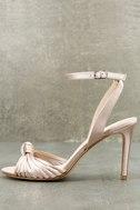 Selina Nude Satin Dress Sandals 1