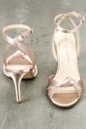 Selina Nude Satin Dress Sandals 4