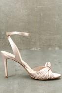 Selina Nude Satin Dress Sandals 3
