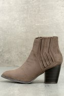 Ryker Taupe Suede Ankle Booties 1