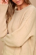 Bear Hug Ivory Knit Sweater 4