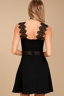 Visual Treat Black Lace Skater Dress 3