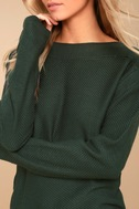 Mellow Move Forest Green Knit Sweater 4