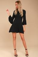 Center of Attention Black Flounce Sleeve Dress 2