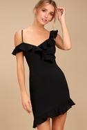 Myth Maker Black Off-the-Shoulder Bodycon Dress 3