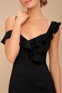 Myth Maker Black Off-the-Shoulder Bodycon Dress 5