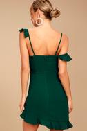 Myth Maker Forest Green Off-the-Shoulder Bodycon Dress 4