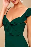 Myth Maker Forest Green Off-the-Shoulder Bodycon Dress 5