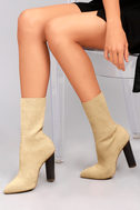 Emmaline Natural Knit Mid-Calf Boots 5