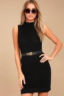 Molly Black Sleeveless Sweater Dress 1