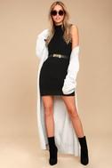 Molly Black Sleeveless Sweater Dress 2