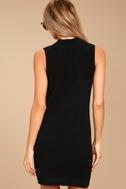 Molly Black Sleeveless Sweater Dress 3