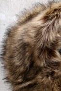 Oksana Brown Faux Fur Scarf 2