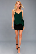Take Note Forest Green Wrap Top 2
