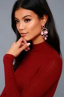Cam Rose Pink Drop Earrings 2