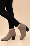 Ryker Taupe Suede Ankle Booties 2