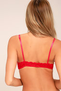 Front Strap Red Lace Bralette