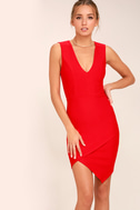 Be Me Red Sleeveless Bodycon Dress 1