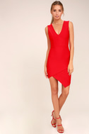 Be Me Red Sleeveless Bodycon Dress 2