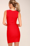 Be Me Red Sleeveless Bodycon Dress 3