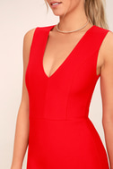 Be Me Red Sleeveless Bodycon Dress 4