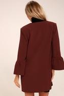 Flare Affair Burgundy Flounce Sleeve Coat 4