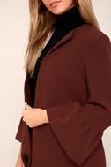 Flare Affair Burgundy Flounce Sleeve Coat 5