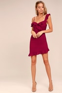 Myth Maker Berry Red Off-the-Shoulder Bodycon Dress 2
