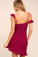 Myth Maker Berry Red Off-the-Shoulder Bodycon Dress 4