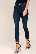 Sophie High Rise Dark Wash Skinny Jeans 2
