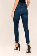 Sophie High Rise Dark Wash Skinny Jeans 3